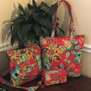 ❤️VERA BRADLEY 3pc Set! GREAT Pre-Owned Condition!